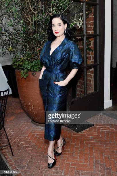 Dita Von Teese attends the 10th Annual Friends of The Costume Institute West Coast Dinner on June 15 2017 in Los Angeles California