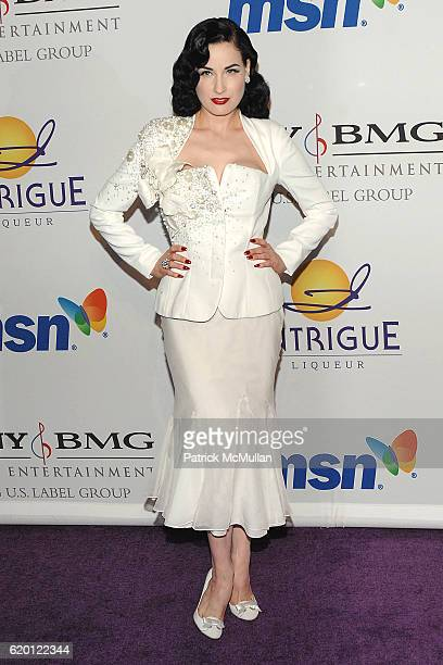 d3efbce39cf Dita Von Teese attends The 2008 Clive Davis PreGrammy Party Arrivals at  Beverly Hills on February
