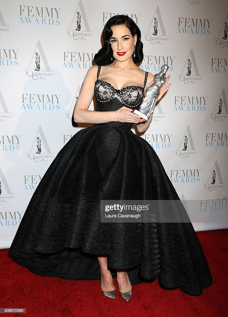 dffcea814dc Dita Von Teese attends the 2016 Femmy Awards on February 2