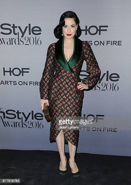 Dita Von Teese attends the 2nd annual InStyle Awards at Getty Center on October 24 2016 in Los Angeles California