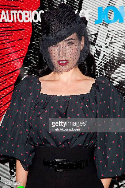 Dita Von Teese attends the 8th Annual Johnny Ramone Tribute at Hollywood Forever on August 19 2012 in Hollywood California