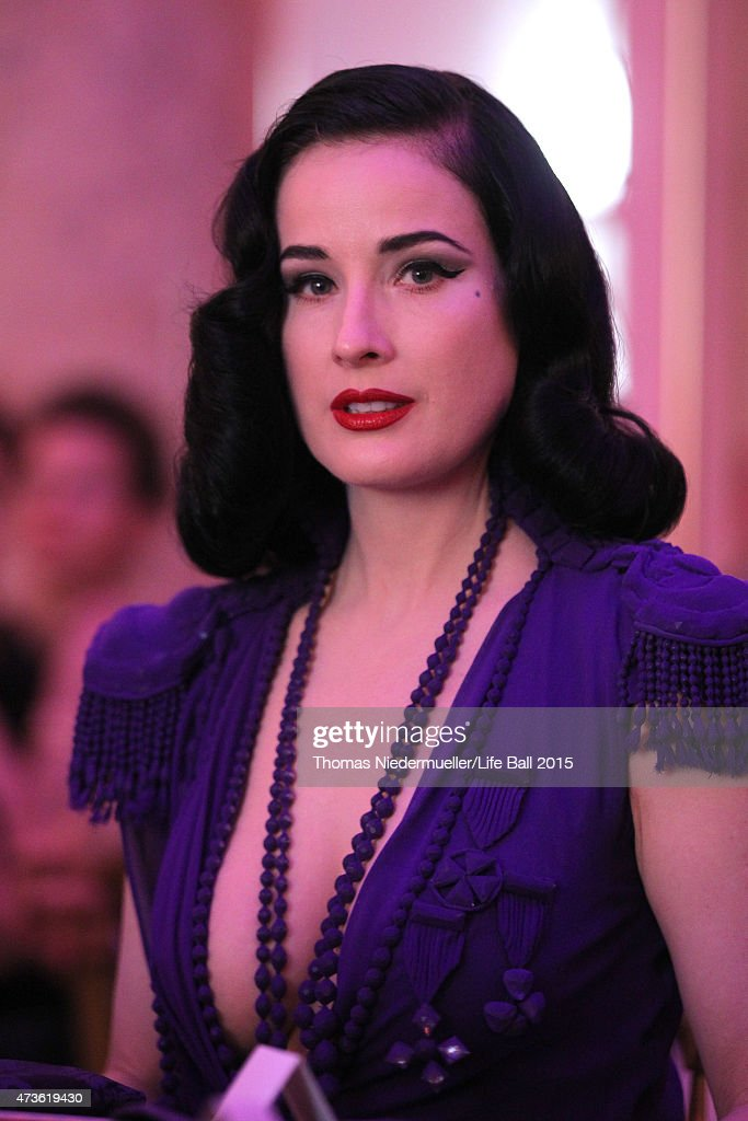 Dita von Teese attends the AIDS Solidarity Gala at Hofburg Vienna on May 16, 2015 in Vienna, Austria.