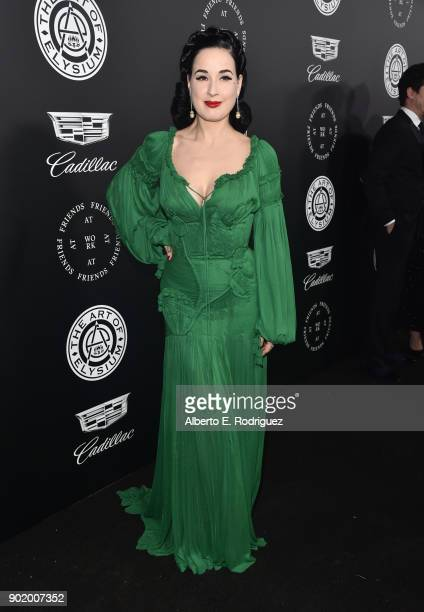 Dita Von Teese attends The Art Of Elysium's 11th Annual Celebration on January 6 2018 in Santa Monica California
