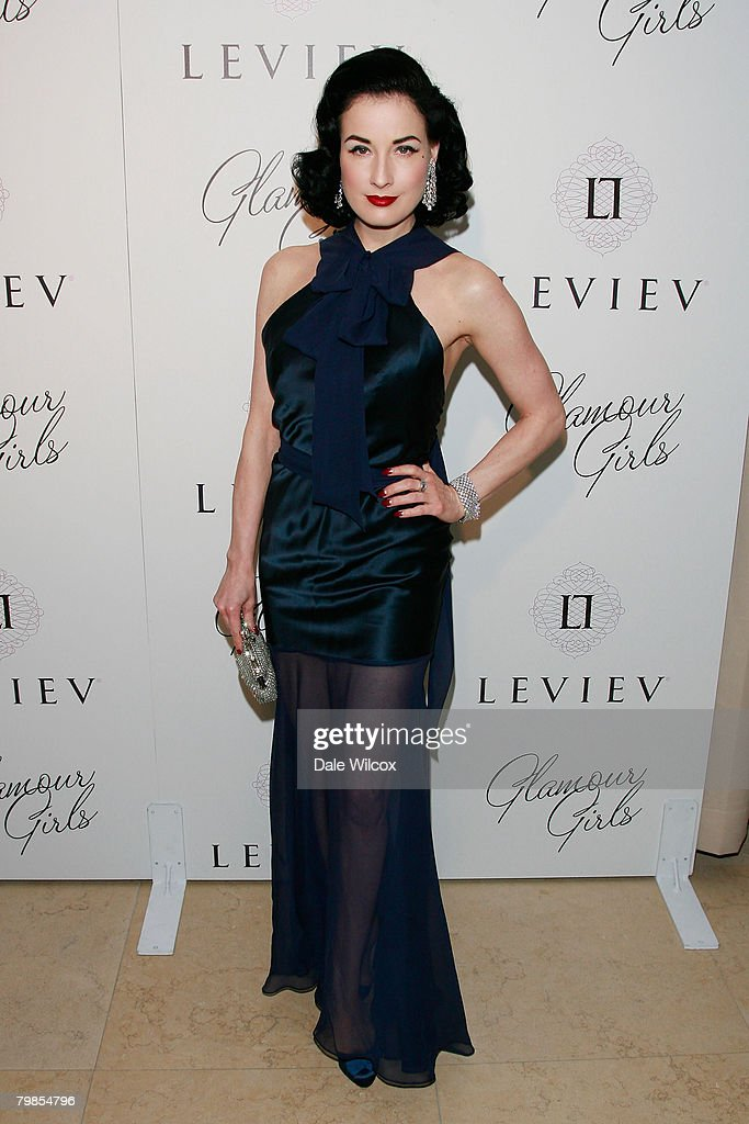 Dita Von Teese attends the book release party for Patrick McMullan's 'Glamour Girls' at The Terrace at the Sunset Tower Hotel on February 19, 2008 in West Hollywood, California.