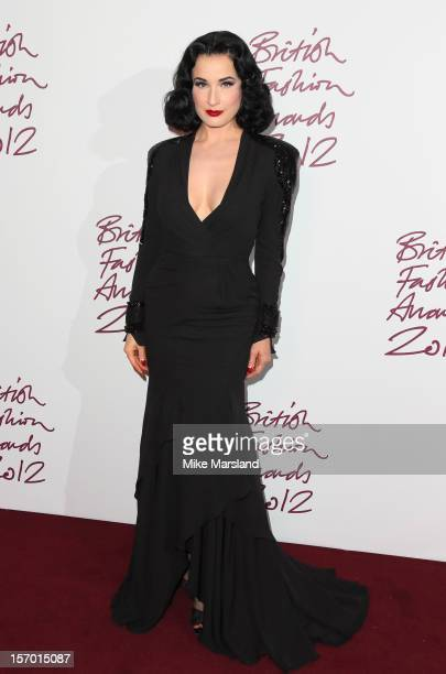 Dita Von Teese attends the British Fashion Awards 2012 at The Savoy Hotel on November 27 2012 in London England