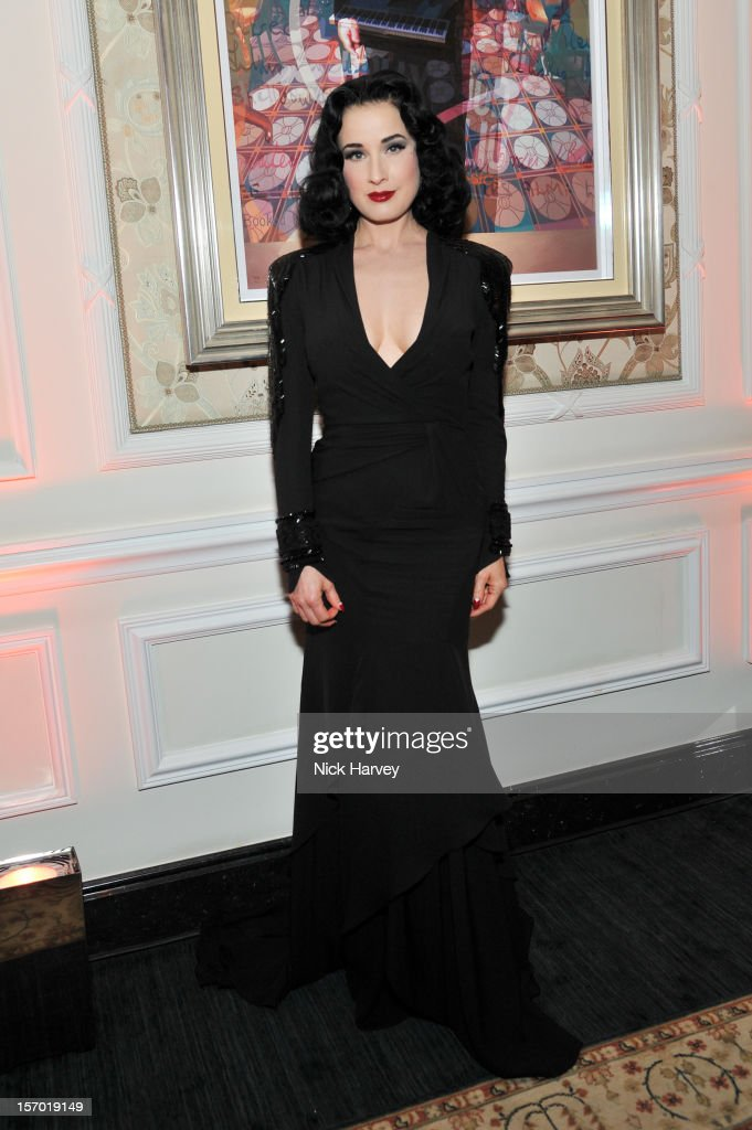 Dita Von Teese attends the British Fashion Awards 2012 at The Savoy Hotel on November 27, 2012 in London, England.