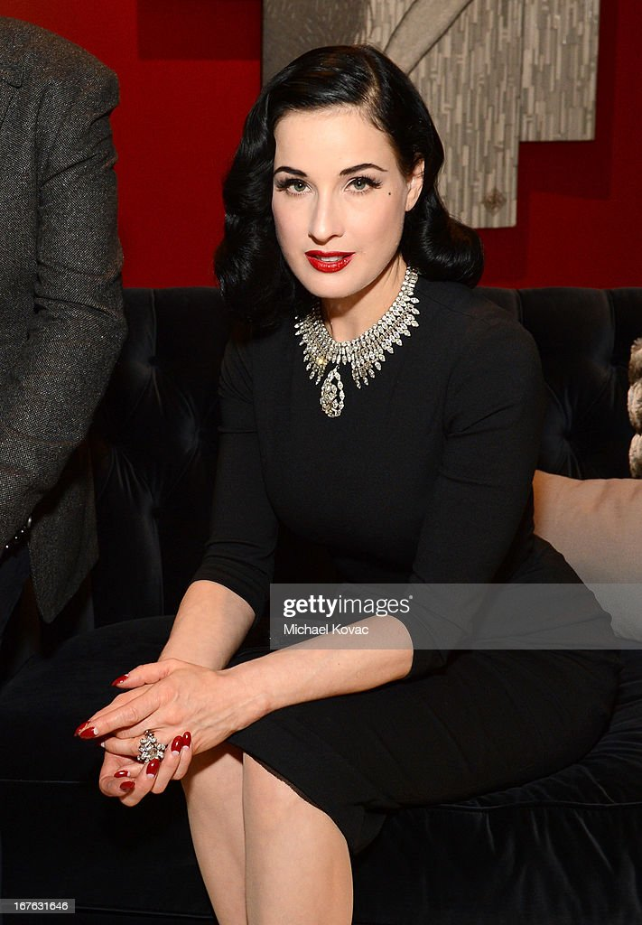 Dita Von Teese attends the BritWeek Christopher Guy event with official vehicle sponsor Jaguar on April 26, 2013 in Los Angeles, California.