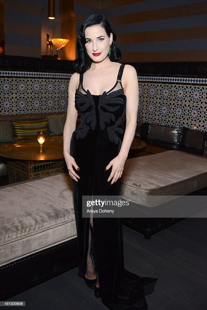 7e28b6fdb67 Carla Amorim Hosts Private Cocktail Party With Dita Von Teese   News Photo