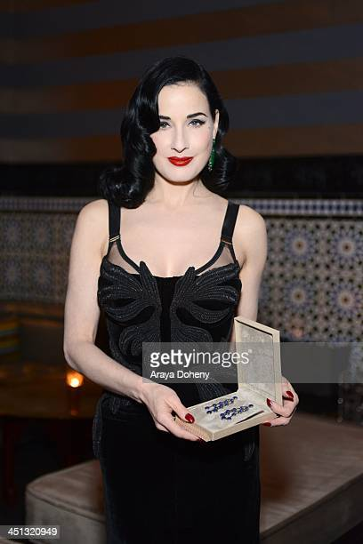 93fac723d47 Dita Von Teese attends the Carla Amorim Hosts Private Cocktail Party With  Ditta Von Teese event