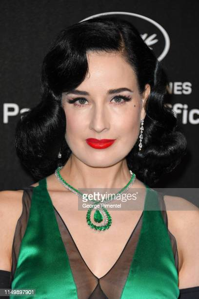Dita Von Teese attends the Chopard Party during the 72nd annual Cannes Film Festival on May 17, 2019 in Cannes, France.
