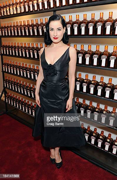 Dita Von Teese attends the Cointreau Ambassador of Libations Cannes 2013 Finals hosted by Cointreau and Gotham Magazine on October 14 2012 in New...