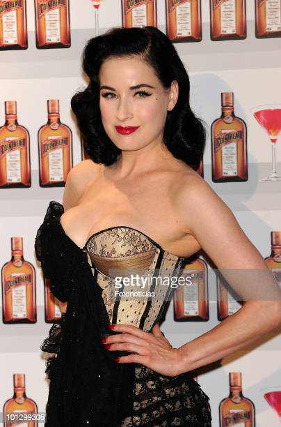 Dita Von Teese attends the 'Cointreau' photocall at the ME Hotel on May 27 2010 in Madrid Spain