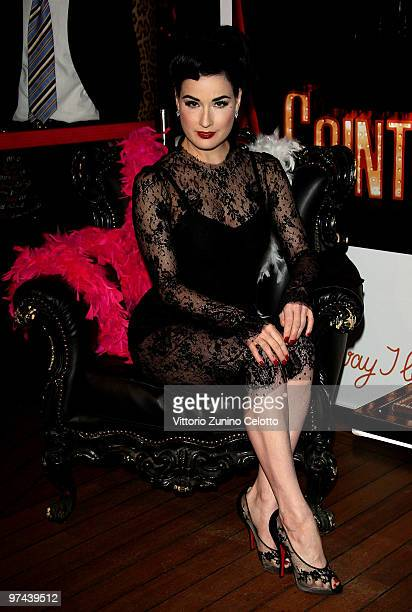 Dita von Teese attends the Cointreaupolitan Cocktail Party at the Just Cavalli Cafe on March 4, 2010 in Milan, Italy.