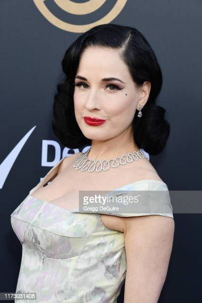Dita Von Teese attends the Comedy Central Roast of Alec Baldwin at Saban Theatre on September 07, 2019 in Beverly Hills, California.