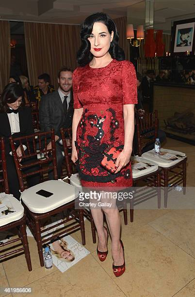 Dita Von Teese attends The DAILY FRONT ROW Fashion Los Angeles Awards Show at Sunset Tower on January 22 2015 in West Hollywood California