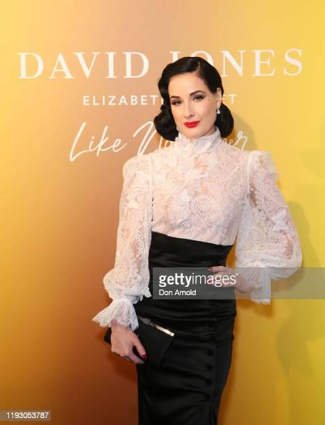 Dita Von Teese attends the David Jones Luxury Beauty and Designer Accessories Floor Launch at David Jones Elizabeth Street Store on December 10 2019...
