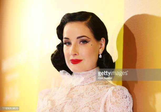 Dita Von Teese attends the David Jones Luxury Beauty and Designer Accessories Floor Launch at David Jones Elizabeth Street Store on December 10 2019...