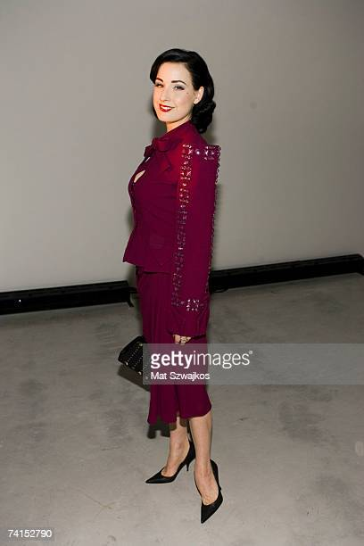 Dita Von Teese attends the Dior 2008 Cruise collection fashion show on May 14 2007 in New York City