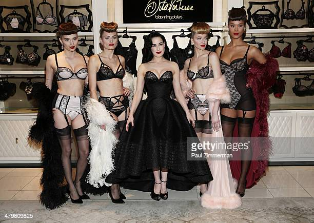 3b45356ff944 Dita Von Teese attends the Dita Von Teese Lingerie Collection Launch at  Bloomingdale s 59th Street Store