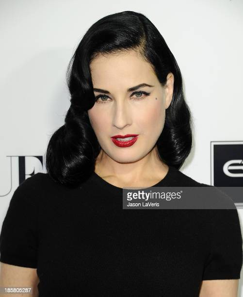 Dita Von Teese attends the Dream For Future Africa Foundation gala at Spago on October 24, 2013 in Beverly Hills, California.