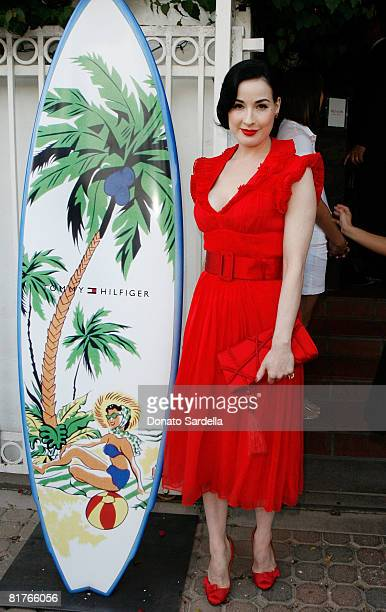 Dita Von Teese attends the exclusive Malibu screening of Battle In Seattle hosted by W Magazine on June 29 2008 Malibu California