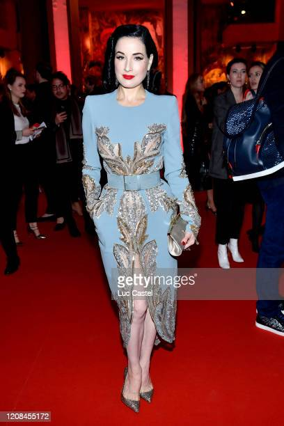 Dita Von Teese attends the Exhibition Opening of L'Exibition[niste] by Christian Louboutin as part of Paris Fashion Week Womenswear Fall/Winter...