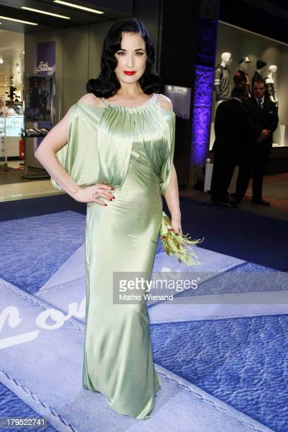 Dita von Teese attends the 'Feel London By Karstadt' Launch Event at Karstadt Store Duesseldorf on September 4 2013 in Dusseldorf Germany