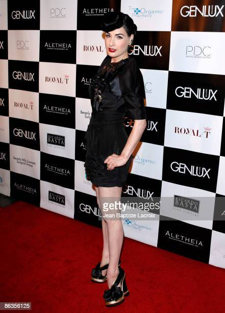 Dita Von Teese attends the Genlux Magazine's BritWeek Designer Of The Year Fashion Show and Awards held at the Pacific Design Centre on May 2 2009 in...