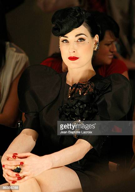 Dita Von Teese attends the Genlux Magazine's BritWeek Designer Of The Year Fashion Show And Awards on held at the Pacific Design Centre on May 2 2009...