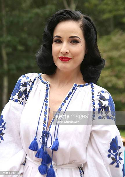 Dita Von Teese attends the Housing Works and The Points Guy presentation of 'Labor of LoveThe Hamptons 2016' on September 3 2016 in East Hampton New...