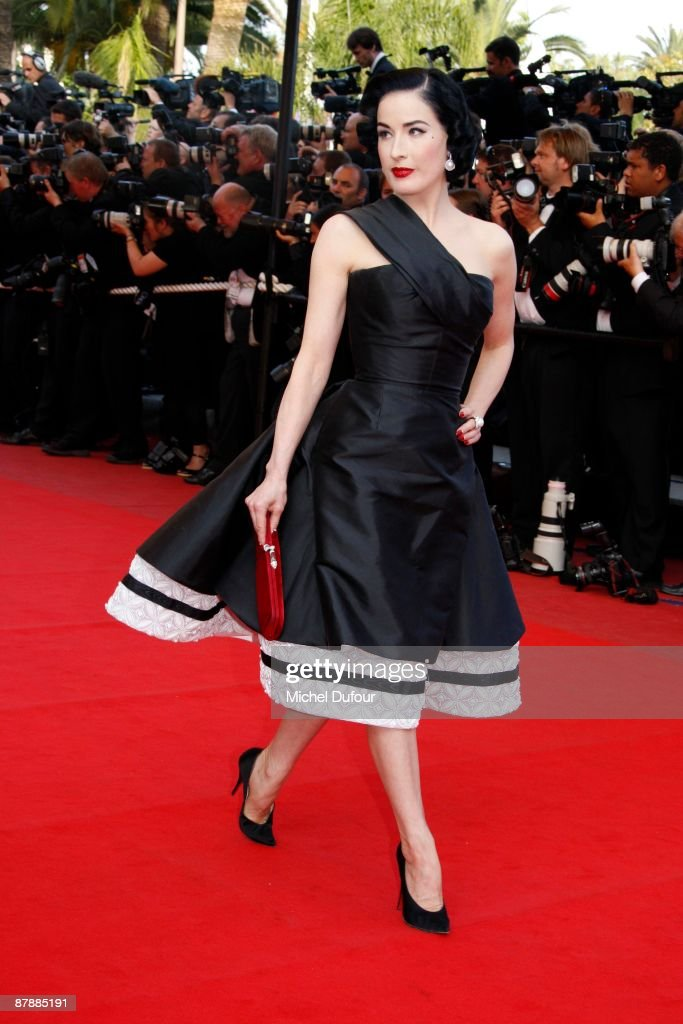 Dita von Teese attends the Inglourious Basterds premiere held at the Palais Des Festivals during the 62nd International Cannes Film Festival on May 20, 2009 in Cannes, France.