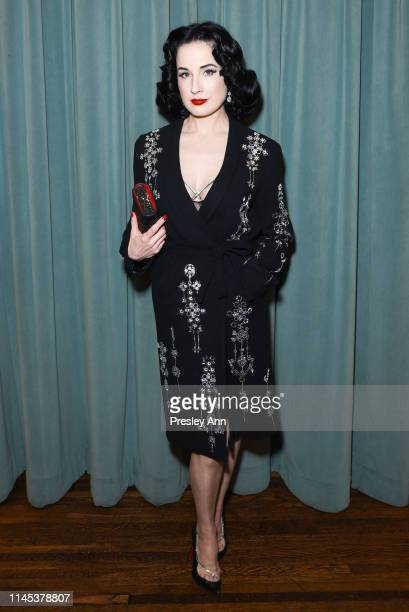 Dita Von Teese attends the Libertine Fall 2019 Runway Show at Ebell of Los Angeles on April 26 2019 in Los Angeles California
