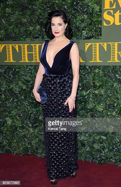 Dita Von Teese attends The London Evening Standard Theatre Awards at The Old Vic Theatre on November 13 2016 in London England