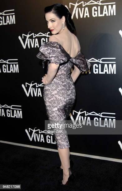 Dita Von Teese attends the MAC Viva Glam VI dinner to benefit Aids research held at Cedar Lake New York City BRIAN ZAK