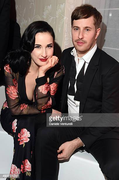 Dita Von Teese attends the Moncler The After Party To Benefit amfAR at Hotel du CapEdenRoc on May 22 2014 in Cap d'Antibes France