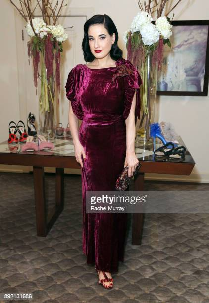 Dita Von Teese attends the Olgana Paris cocktail party at the Chateau Marmont on December 13 2017 in Los Angeles California
