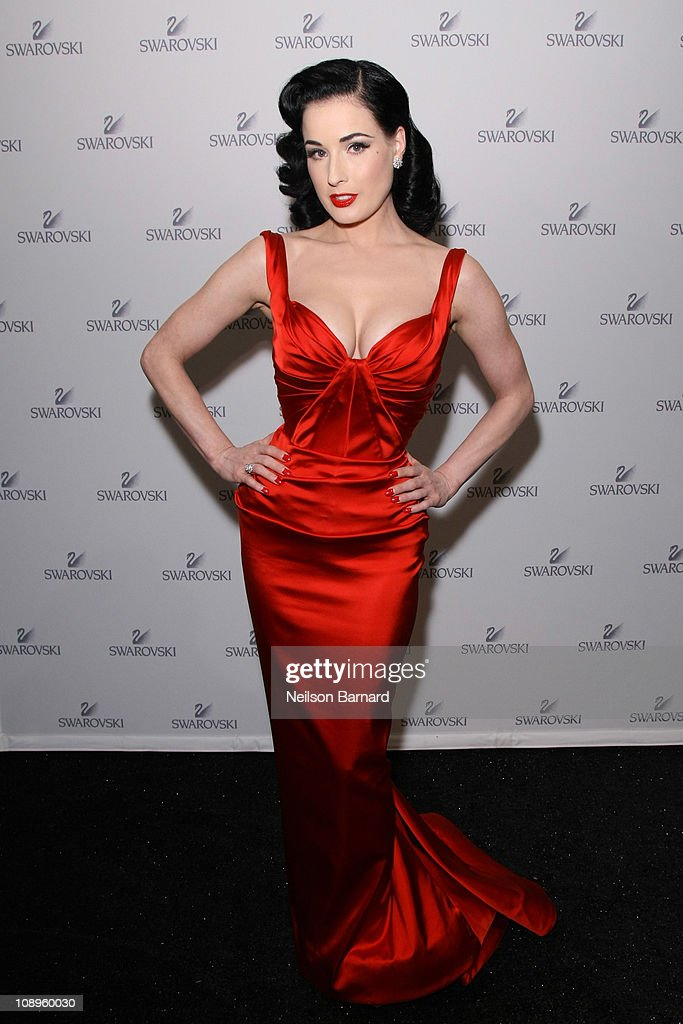 Dita Von Teese Attends The Red Dress Collection 2011 Fashion Show News Photo Getty Images