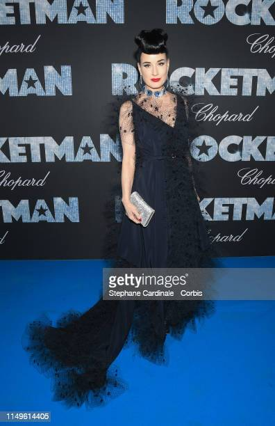 """Dita Von Teese attends the """"Rocketman"""" Gala Party during the 72nd annual Cannes Film Festival on May 16, 2019 in Cannes, France."""