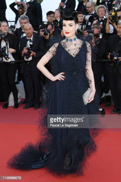 Dita von Teese attends the screening of Rocketman during the 72nd annual Cannes Film Festival on May 16 2019 in Cannes France