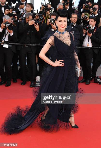 """Dita von Teese attends the screening of """"Rocketman"""" during the 72nd annual Cannes Film Festival on May 16, 2019 in Cannes, France."""