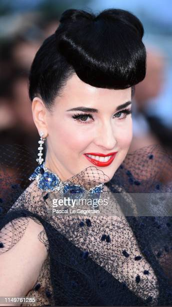 "Dita von Teese attends the screening of ""Rocketman"" during the 72nd annual Cannes Film Festival on May 16, 2019 in Cannes, France."