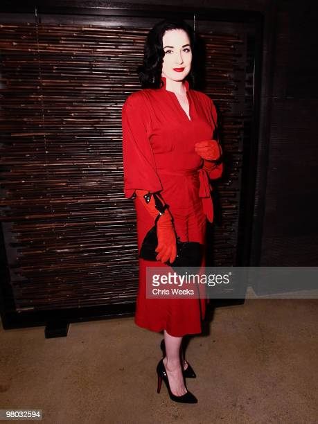 Dita Von Teese attends the second anniversary of Nobu on March 24 2010 in Los Angeles California