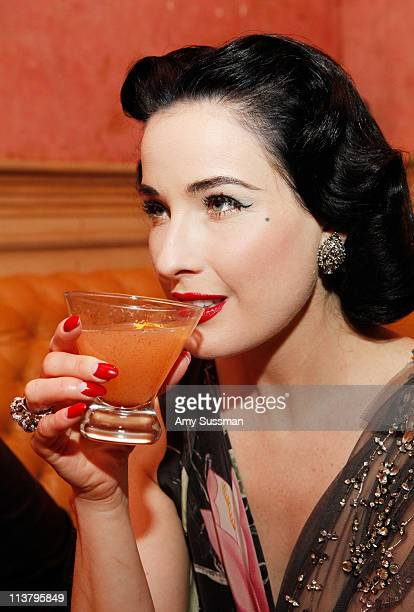 Dita Von Teese celebrates Cinco de Mayo and the launch of her newest signature cocktail The Cointreau MargaDita at Los Feliz on May 5 2011 in New...