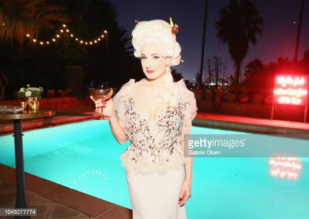 Dita Von Teese celebrates her birthday at the private residence of Jonas Tahlin CEO Of Absolut Elyx on September 29 2018 in Los Angeles California
