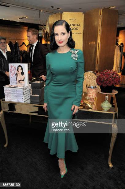 Dita Von Teese celebrates her fragrance line debut at Bergdorf Goodman on December 5 2017 in New York City