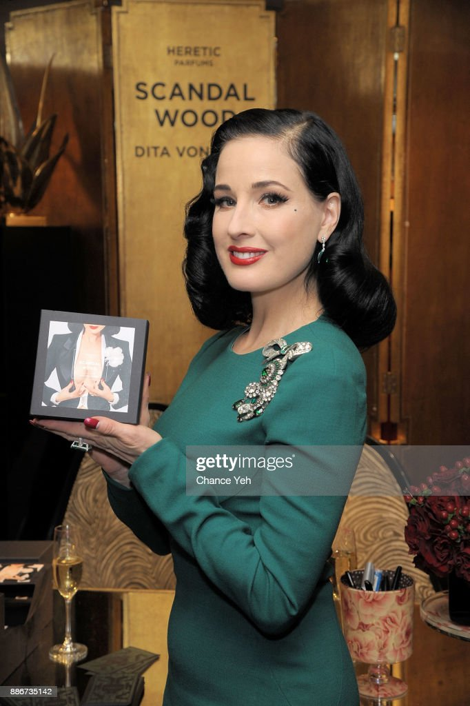 Dita Von Teese Celebrates Fragrance Line Debut At Bergdorf Goodman