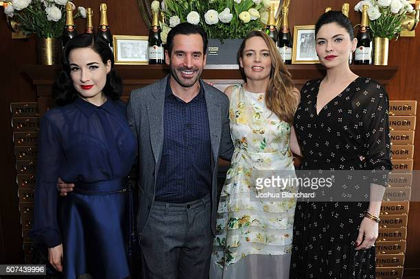 Dita Von Teese Christopher Gialanella Vitalie Taitinger and Jodi Lyn O'Keefe attend the Champagne Taittinger ANGELENO Celebrate Entrepreneurial Women...