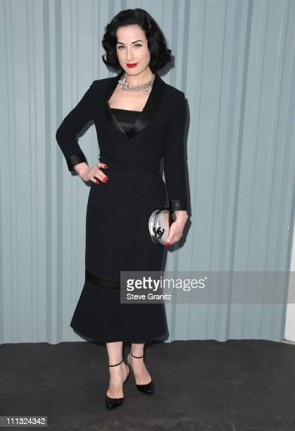 Dita Von Teese during 2007/2008 Chanel Cruise Show Presented by Karl Lagerfeld at Hangar 8 Santa Monica Airport in Santa Monica California United...