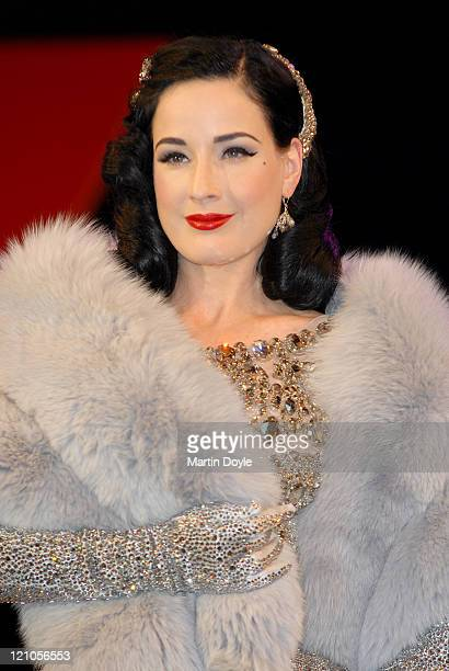 Dita Von Teese during a photocall for Erotica 2007 at Olympia Exhibition Centre on November 23 2007 in London England