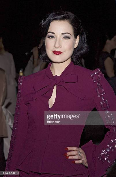 Dita Von Teese during Cruise 2008 Christian Dior Arrivals at 7 World Trade Center in New York City New York United States
